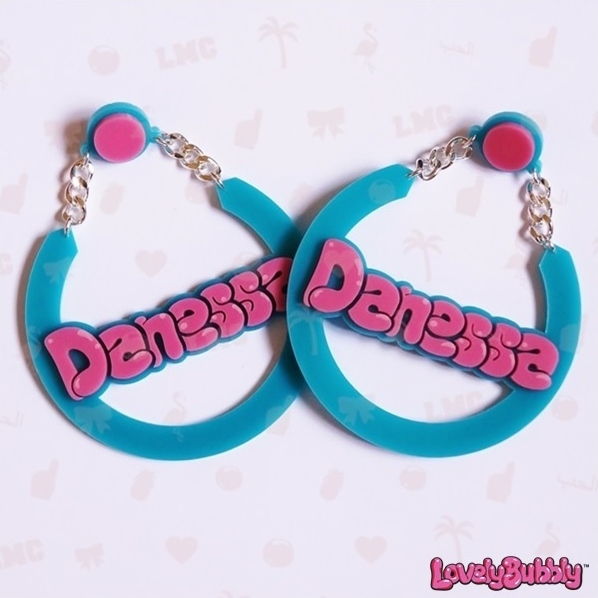 Danessa Name Earrings