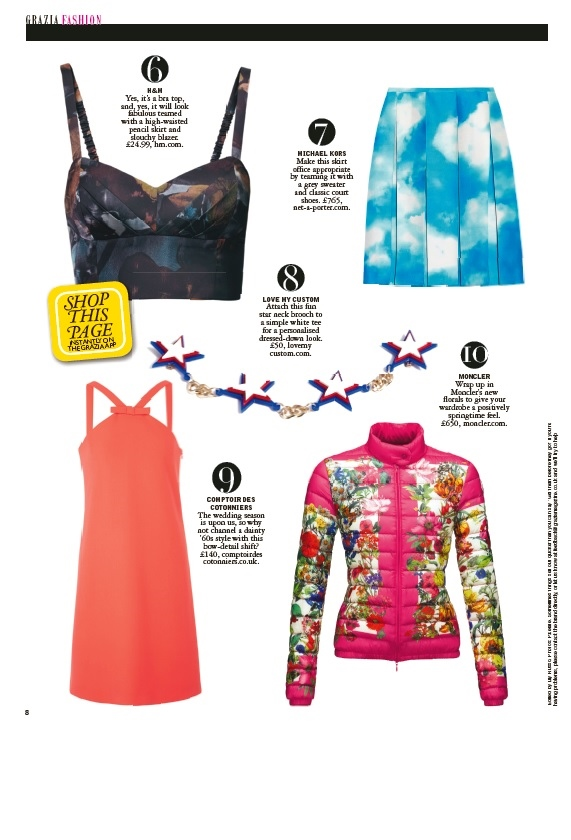 Love My Custom Allstar Collar Featured In April 2013 Issue Of GRAZIA Magazine - Copy - Copy