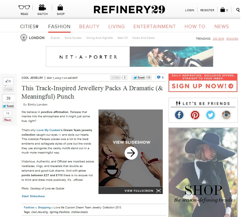 Love My Custom Dream Team Collection Feature On Refinery29 - Copy