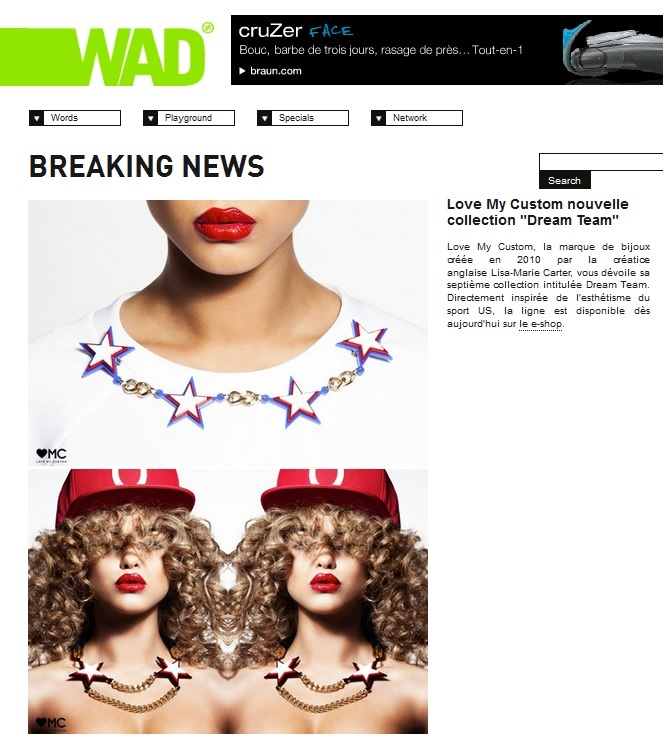 Love My Custom Dream Team Collection Featured On WAD Magazine
