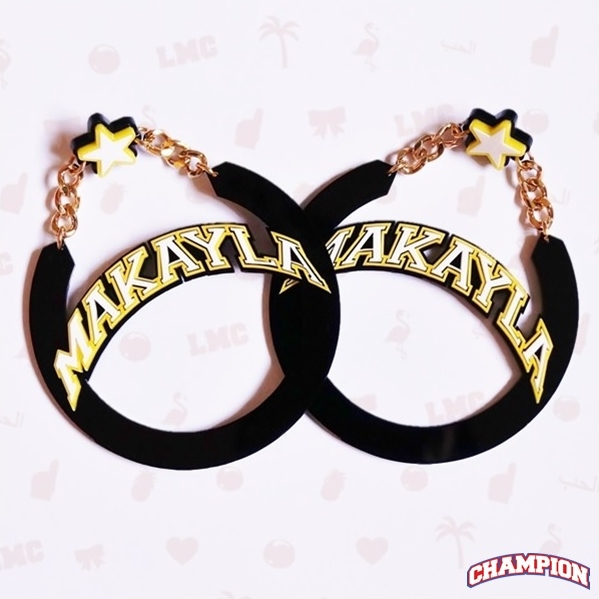Makayla Name Earrings