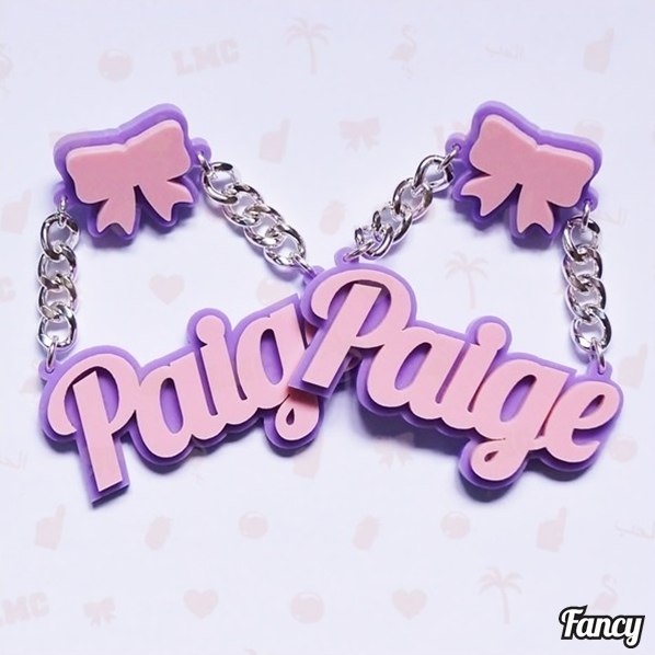 Paige Name Earrings