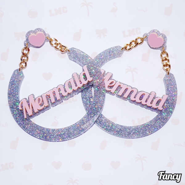 Mermaid Name Earrings