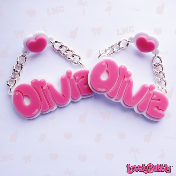 Olivia Name Earrings