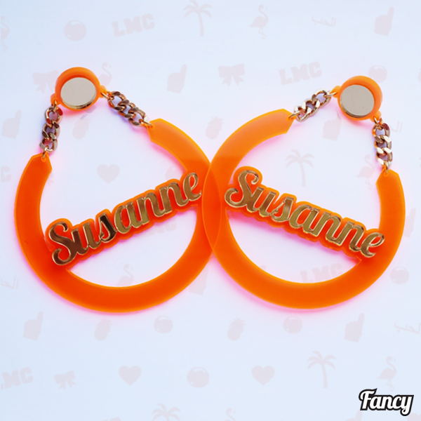 Susanne Name Earrings