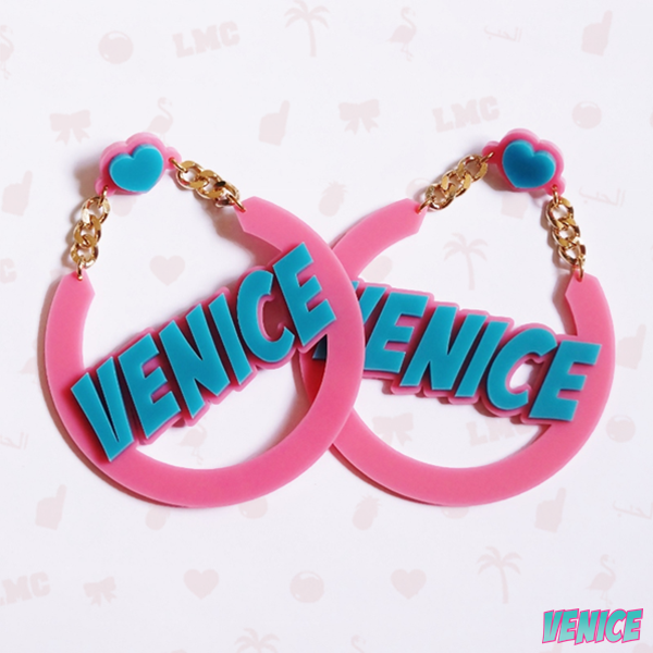 Venice Name Earrings