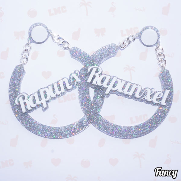 Rapunxel Name Earrings