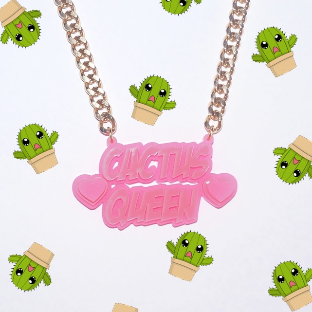 Cactus Queen Name Necklace - Love My Custom