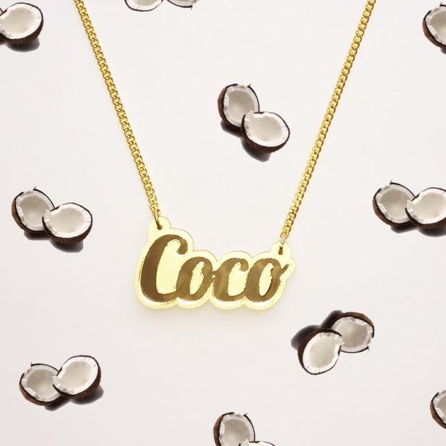 Custom Coco Name Necklace