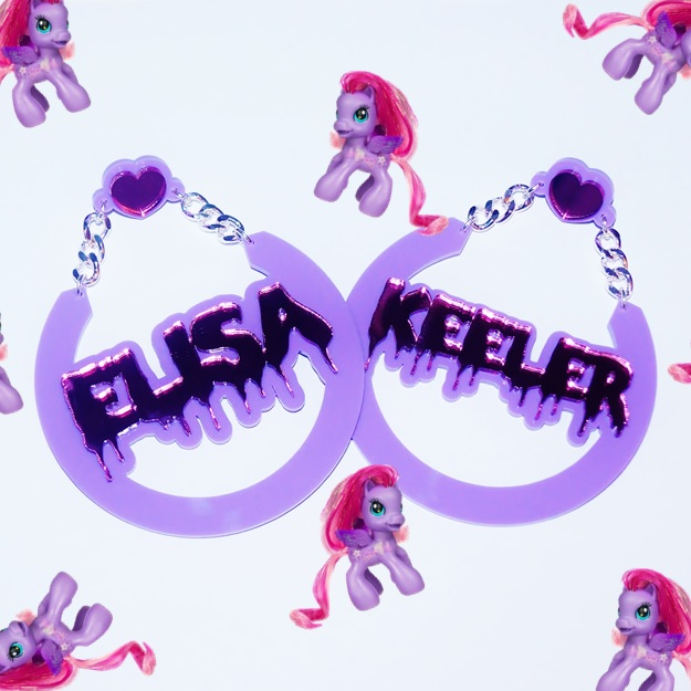 Love My Custom Elisa Keeler Name Earrings