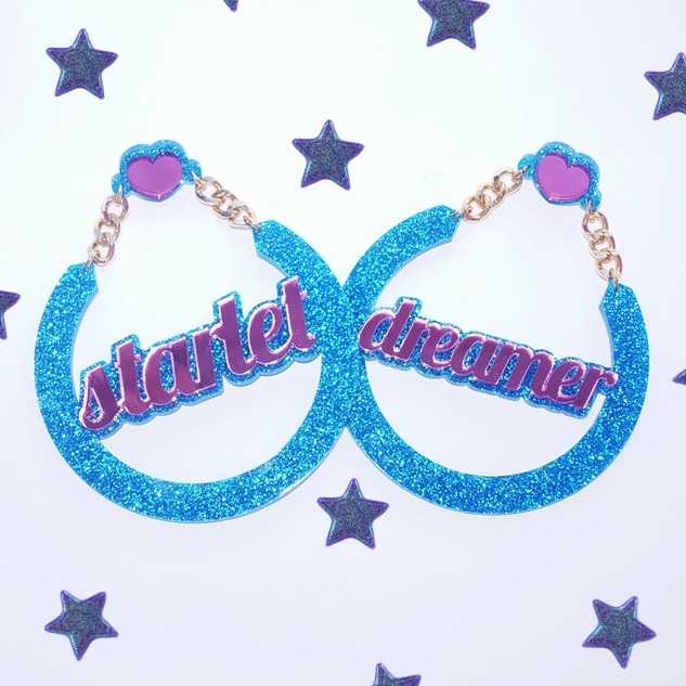 Starlet Dreamer Name Earrings, - Love My Custom